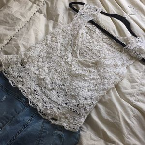 Hollister XS/S knit top swimsuit cover up